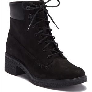 Timberland Black Brinda Lace Up Boots